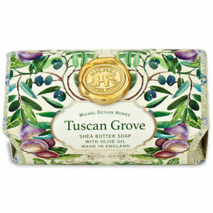 Michel Design Works Tuscan Grove Large Bath Soap Bar ~Olive and Herb Scent