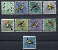 35735) POLAND 1966 MNH** Forest Birds 9v Scott# 1452/60