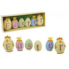 Pms 6 Easter Decorated Polyfoam Eggs Spelling The Word Easter With Easter Grass
