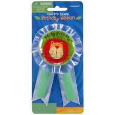 JUNGLE ANIMALS GUEST OF HONOR RIBBON ~ Birthday Party Supplies Favor Award Blue