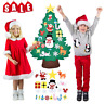 DIY Felt Christmas Tree&Ornaments New Year Gifts Kids Toys Wall Hanging Decor AC