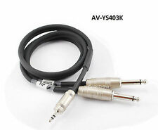 "3ft Kirlin 3.5mm TRS Stereo Male Plug to Dual 1/4"" TS Mono Male Noise-Free Cable"