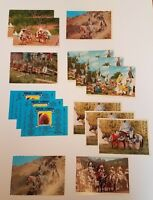 Vintage mixed Lot of 15 Native American / First Peoples Themed Postcards