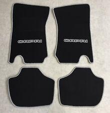Autoteppiche Fußmatten für Ford Capri 2 und 3 schwarz silber 4teilig Neuware