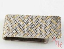 """Sterling Silver Vintage 14k 925 Weave """"J.l.s."""" Money Clip (24.1g) - 813224"""