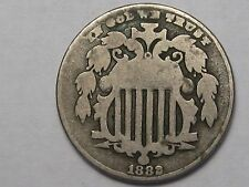 1882 US 5 Cent Shield Nickel.  #8