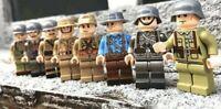WW2 Military Army  Soldier MiniFigures Japan France Italian GB U.S. Legos Comp