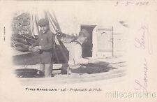 * FRANCE - Marseille, Types Marseillais n.346 - Preparatifs de Peche 1901