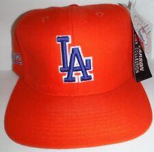 new concept aa96b 368d6 Los Angeles Dodgers Orange Adjustable Strap Back Cap Hat