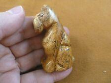 (Y-Dog-Sc-720) Schnauzer Scottish Terrier Scottie dog gemstone Figurine carving