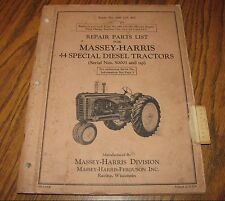 Massey Harris 44 Special Diesel Tractor Parts Catalog Manual s/n 50001-up  1955