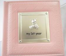 Baby Girl - 1st Year Birthday Gift - Pink Photo Picture Album