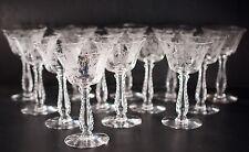Fostoria Heather Liquor Cocktail Glasses Goblets Lot of 14