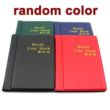 10 Pages 120 Coin Collection Holder Pocket Money tokens Storage Album Book Gift
