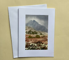 "Hand painted card and gift in one  ""Towards Tryfan'  Ready for a 8 x 6 "" frame"