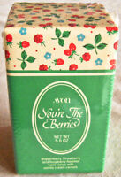 """RARE! Vintage 1984 Avon """"YOU'RE THE BERRIES"""" Glass Jar & Candy - NEW, SEALED!"""