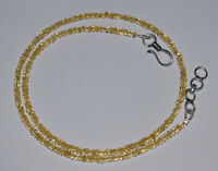 Yellow Color Citrine Gemstone 18 Inch Strand Necklace 3.5 mm Beads VF32