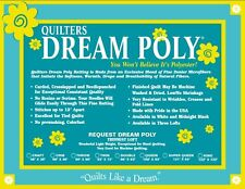 Quilters Dream Poly Request Batting-Light Loft Twin Size