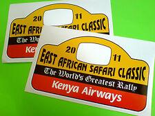 East African Safari Clásico carrera de coches Rally Stickers Calcomanías 2 De 150 Mm