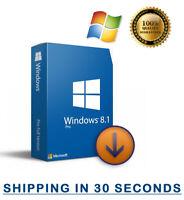 Microsoft Windows 8.1 Professional Pro - 32/64 bit - Multilingual 100% Original
