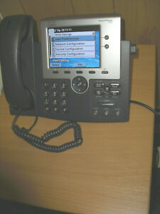 Cisco 7945G PoE Handset Cisco Systems Unified IP Phone VoIP Colour Display SiP