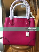 ❤️Michael Kors Studio Mercer Corner MD Center Zip Ultra Pink Leather 30H7GZ5T6A