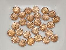 500 Champagne Round Flatback Resin Dotted Rhinestone Gem beads 6mm