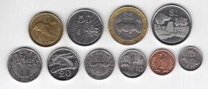 ZIMBABWE  10 DIF  COINS SET 0.01 - 25$ 1997 - 2003 YEARS