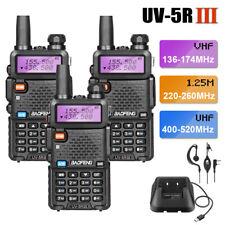 3x Baofeng UV-5R III Tri-Band Walkie Talkies Uhf/vhf radio de dos vías Jamón + Set