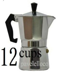 Stove Top Espresso Coffee Maker pot Cappuccino Latte 12 Cups Cafetera Cubana