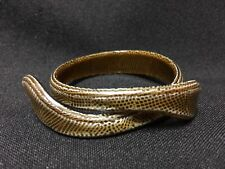 Vintage!! Unique Lea Stein from Paris Green Snake Cuff Bracelet Free Shipping