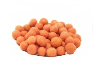 10 Perles Boules de Feutre Feutrine naturelle Ø1.5 Cm Nepal O