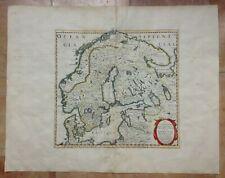 SCANDINAVIA 1647 NICOLAS SANSON UNUSUAL LARGE ANTIQUE MAP 17TH CENTURY