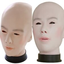 Halloween Realistic Human Female Latex Party Scary Festival Costume Full Face
