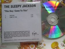 The Sleepy Jackson ‎– This Day / Come To This  Virgin Records CDr UK Promo CD