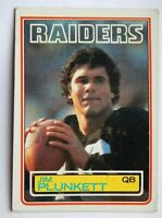 Jim Plunkett #307 Topps 1983 Football Card (Los Angeles Raiders) VG