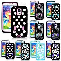 Galaxy S5 i9600 Protective Heavy Duty Hybrid Case With Built in Screen Protector
