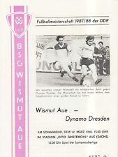 OL 87/88   BSG Wismut Aue - SG Dynamo Dresden