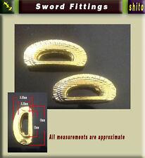 2 X Shitodome For Attaching Sageo---Kurikata saya iaito, iaido japanese sword