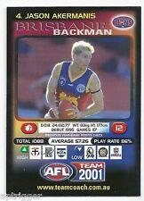 2001 Teamcoach (4) Jason AKERMANIS Brisbane