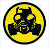 Biohazard Gas Mask Gaming PC Sticker Laptop Notebook Desktop Vinyl Car Decal