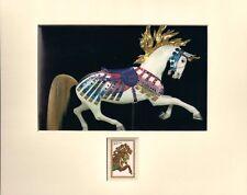 ANTIQUE CAROUSEL HORSE - FRAMEABLE POSTAGE STAMP ART - 0643