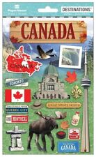 Scrapbooking Crafts Stickers 2D Canada Montreal Moose Goose Toronto Flag Maple