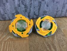 x2 Beyblade Style Spinning Tops Spinners Green