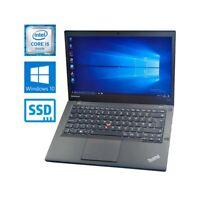 """COMPUTER NOTEBOOK LENOVO THINKPAD T440S i5 4300U 14"""" WIN 10 RAM 12GB SSD 240GB-"""