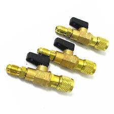 """1x R410a R134a Shut Ball Valves For A/C Charging Hoses HVAC 1/4"""" AC Refrigerant"""