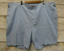 IZOD Shorts Mens Size 48 Blue Revival Newport Oxford Expanding Waist Stretch New