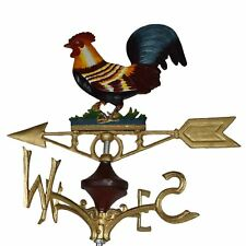 More details for cockerel chicken hen weather vane vain ridge mount gold house roof castiron