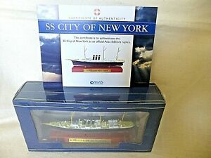 Atlas Edition SS CITY OF NEW YORK Diecast Model Ship 1:1250 Scale SEALED Boxed