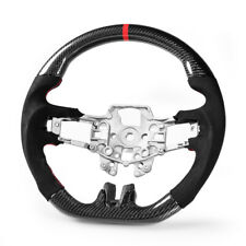 Steering Wheel Carbon Fiber Genuine Suede For Ford Mustang EcoBoost 5.0GT 15-18